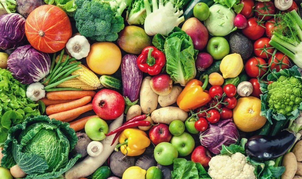 insieme di verdura